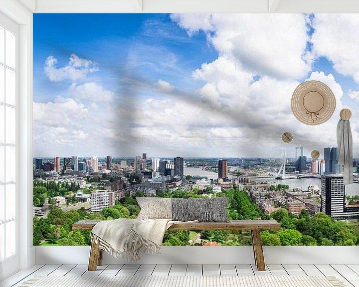 Sfeerimpressie behang: Panorama Rotterdam van Frenk Volt