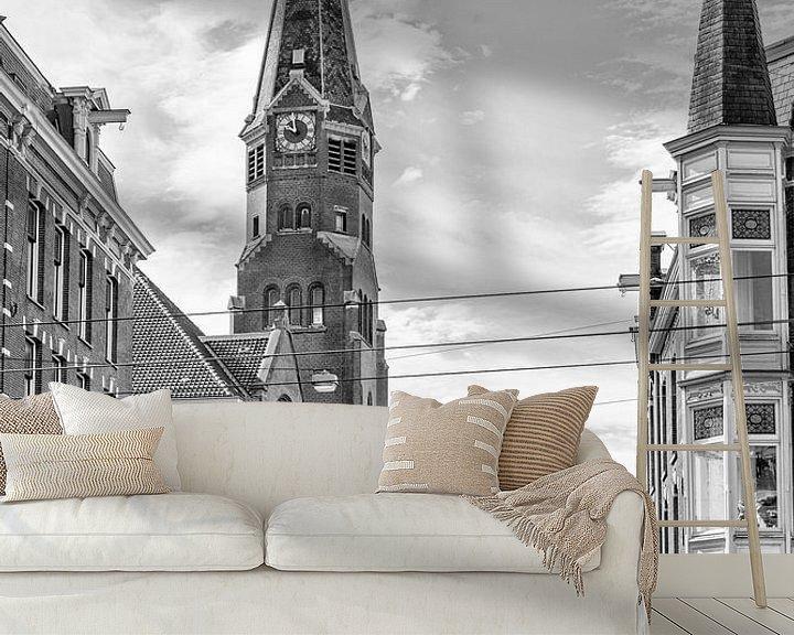 Sfeerimpressie behang: De Oranjekerk in Amsterdam van Don Fonzarelli
