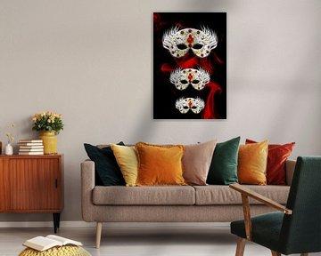 Three Masks van Roswitha Lorz