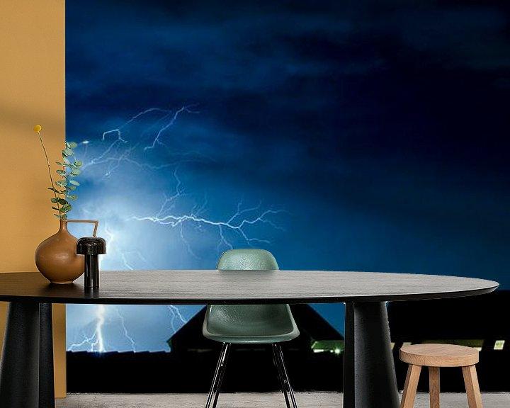 Sfeerimpressie behang: Vertakkingen van licht van Ricardo Bouman
