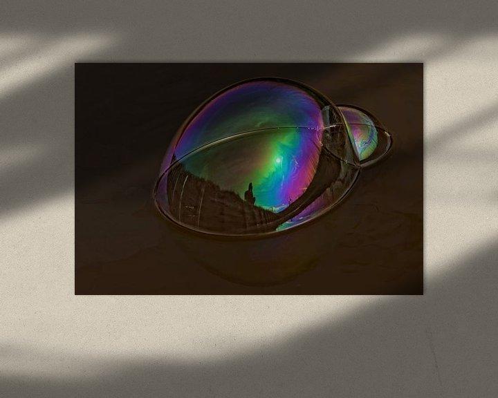 Sfeerimpressie: zeepbel reflectie van rene schuiling
