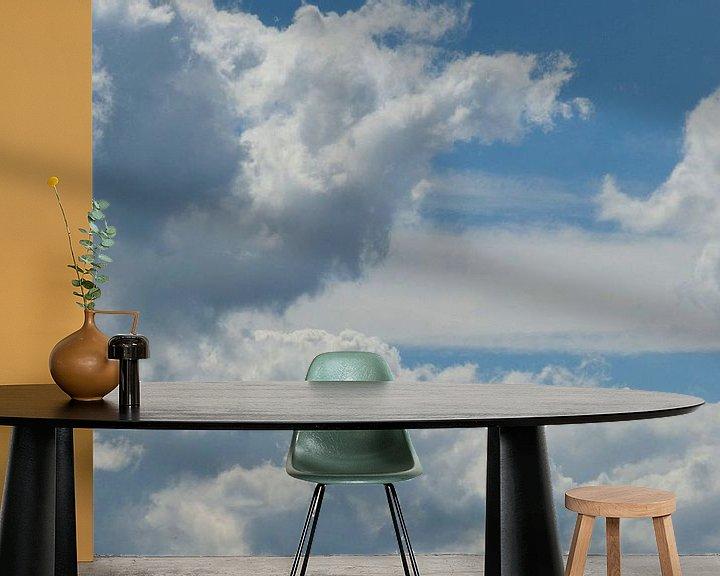Beispiel fototapete: Dutch skies von bird bee flower and tree