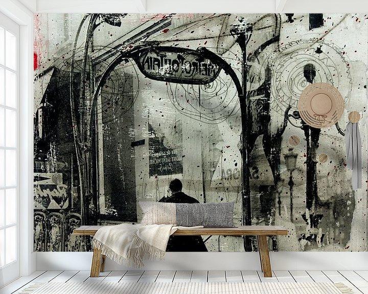 Sfeerimpressie behang: RUSH HOUR ( Gezien op tv bij VT wonen, weer verliefd op je huis.) van db Waterman