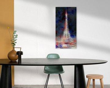 City-Art Eiffel PARIS Tower National Colors sur Melanie Viola
