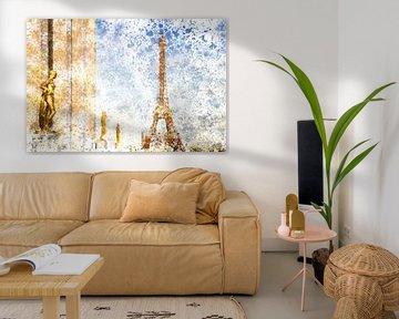 City-Art PARIS Eiffel Tower & Trocadero von Melanie Viola