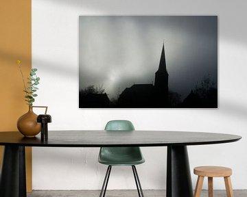 Kerk in de mist von Menno Bausch