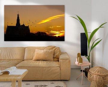 Sunrise in Haarlem van Jasper van der Meij