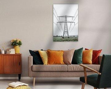 Electricity Pylons van Robert Kersbergen