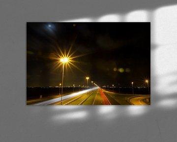 Light Trails van Robert Kersbergen