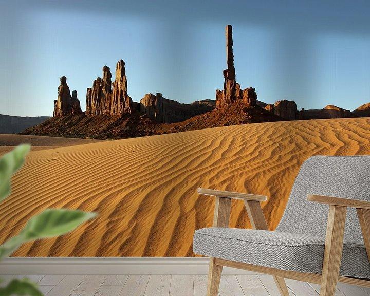 Sfeerimpressie behang: Monument Valley van Antwan Janssen