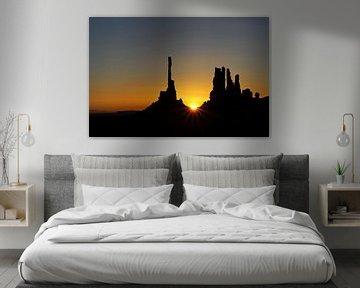 zonsopkomst Monument Valley von Antwan Janssen