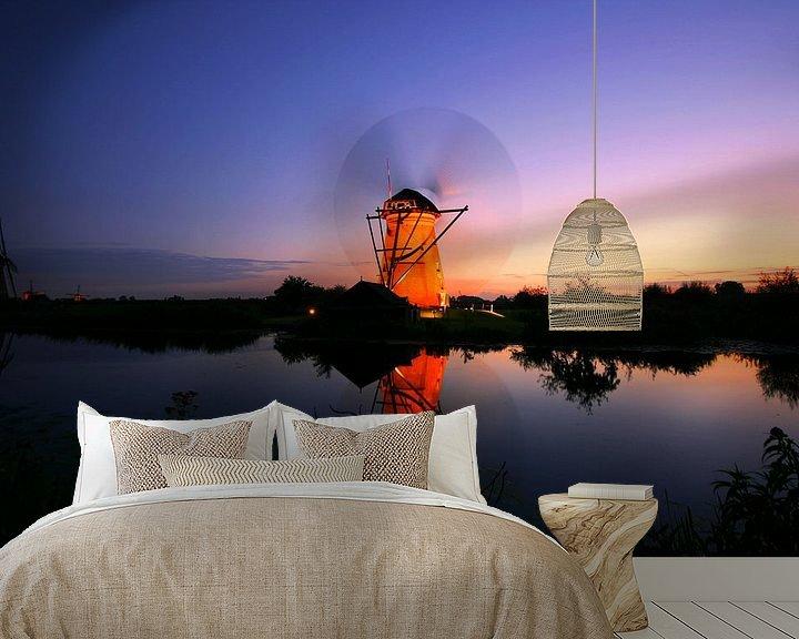 Impression: Dutch windmill at sunset. Kinderdijk The Netherlands sur noeky1980 photography