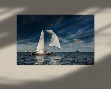 Zeilen op t IJsselmeer van Harrie Muis