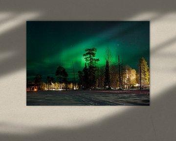Fins Noorderlicht van Guido Akster