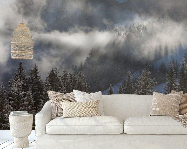 Sfeerimpressie behang: zonnestralen van Guido Akster