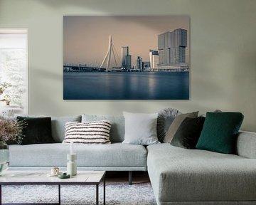 Skyline Rotterdam van Peter Moerman