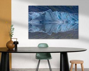 Heinabergsjokull, Ijsland van Herman van Heuvelen
