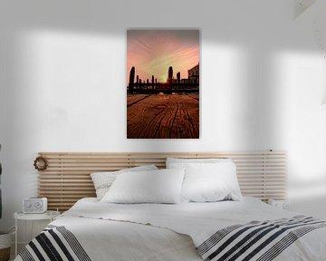 Zonsondergang in Venetië aan de steiger sur noeky1980 photography