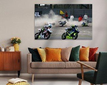 Motor crash op TT Assen tijdens de Paasraces ongeluk