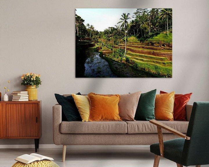 Sfeerimpressie: Rijstvelden op Bali van Wijnand Plekker