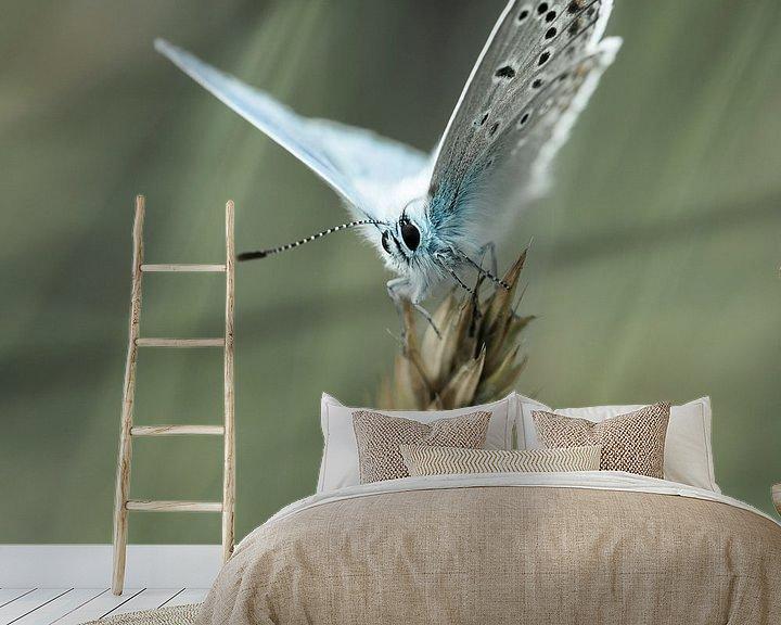 Sfeerimpressie behang: zomerblauw van jowan iven