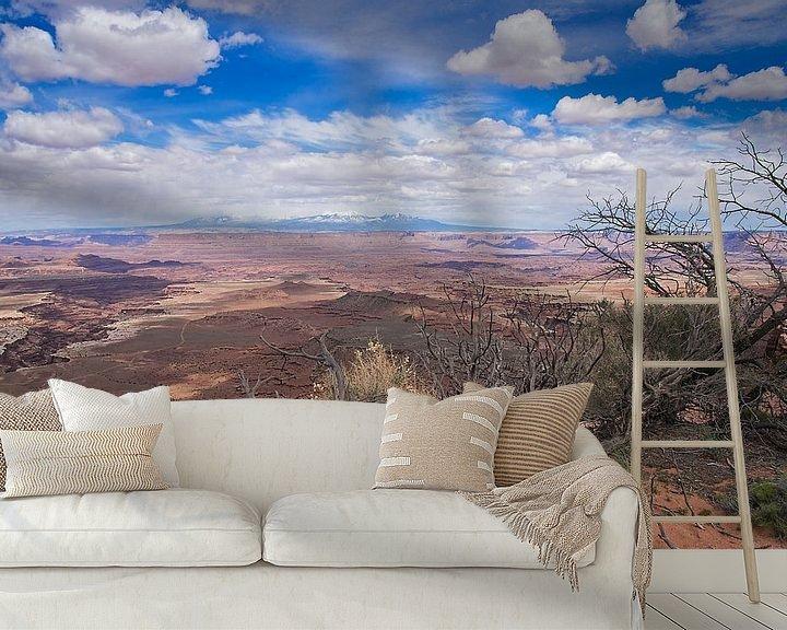 Sfeerimpressie behang: Nationaal Park Canyonlands- Islands in the Sky in Utah - Verenigde Staten van VanEis Fotografie