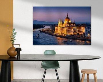 Parlementsgebouw Boedapest van Keesnan Dogger Fotografie