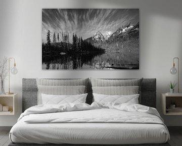 Grand Teton bergketen National park Verenigde Staten van Mirakels Kiekje