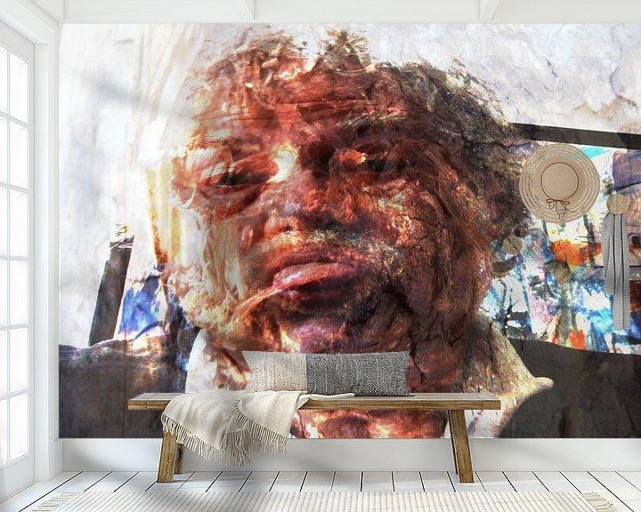 Sfeerimpressie behang: alter Mann van Peter Norden