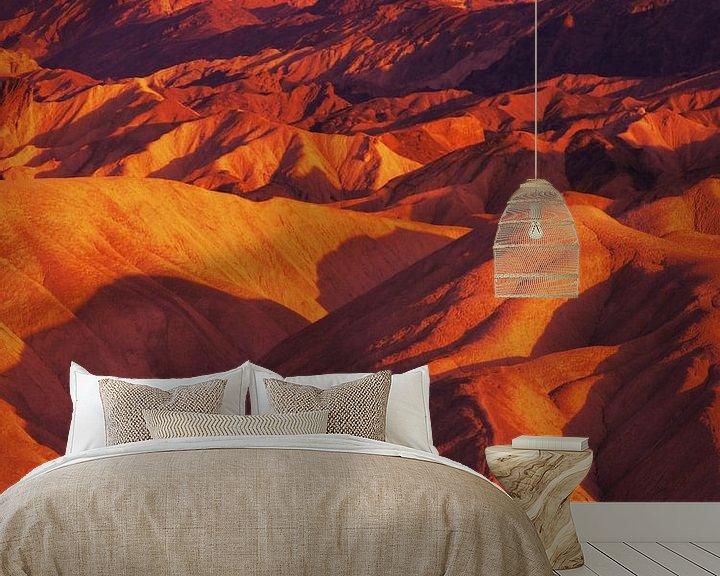 Sfeerimpressie behang: Death Valley, Zabriskie Point van Mr and Mrs Quirynen