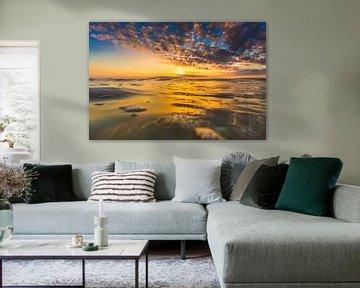 Domburg surfen zonsondergang 4 van Andy Troy
