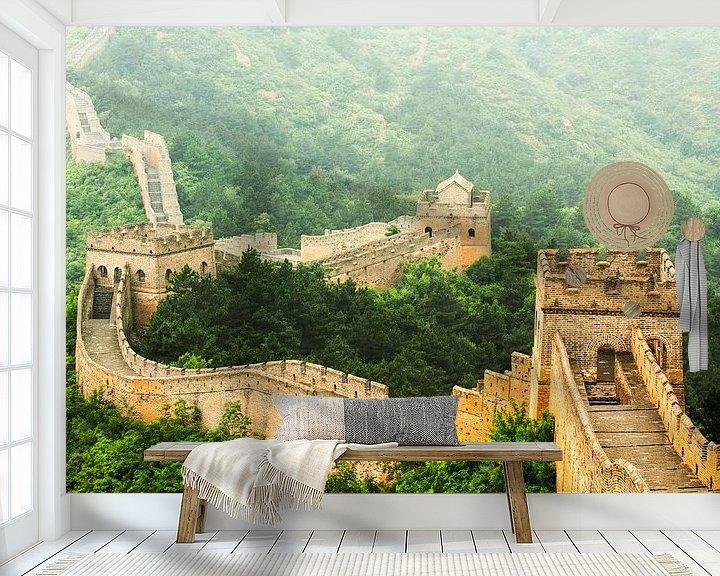 Sfeerimpressie behang: Chinese Muur van Dennis Van Den Elzen