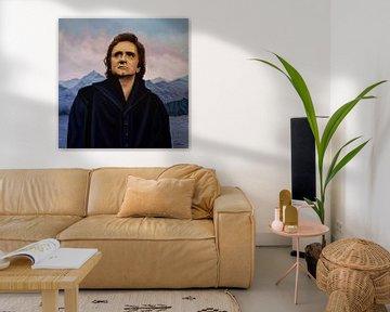 Johnny Cash schilderij von Paul Meijering