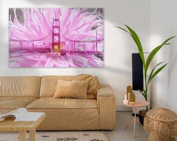 San Francisco Golden Gate Bridge - Double Exposure van Melanie Rijkers