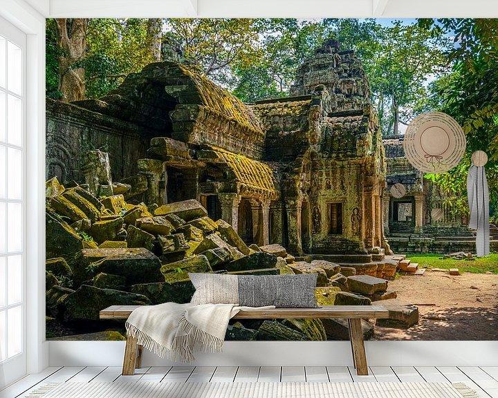 Sfeerimpressie behang: Jungle temple van Richard Guijt Photography
