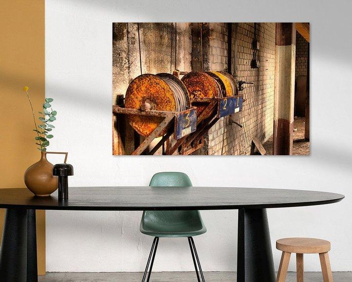 Beispiel: Kabelrollen aan muur von David Klumperman