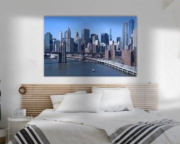 skyline New York in kleur van Artstudio1622