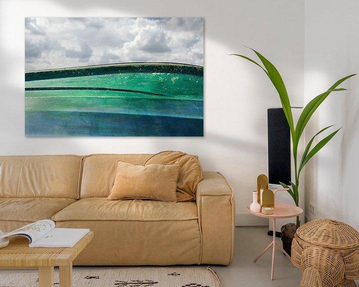 Sfeerimpressie: Wolken en boot horizon van Tot Kijk Fotografie: natuur aan de muur