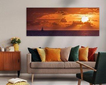 zonsondergang van Piet Haaksma