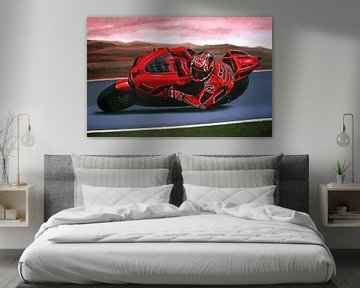 Casey Stoner op Ducati schilderij von Paul Meijering