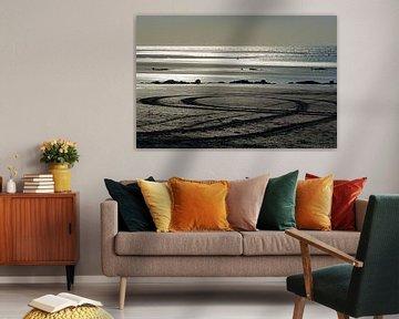 Zonsondergang Strand Houlgate Normandië II van Watze D. de Haan