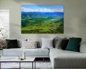 Panoramisch uitzicht vanuit Penegal in het voorjaar van Gisela Scheffbuch