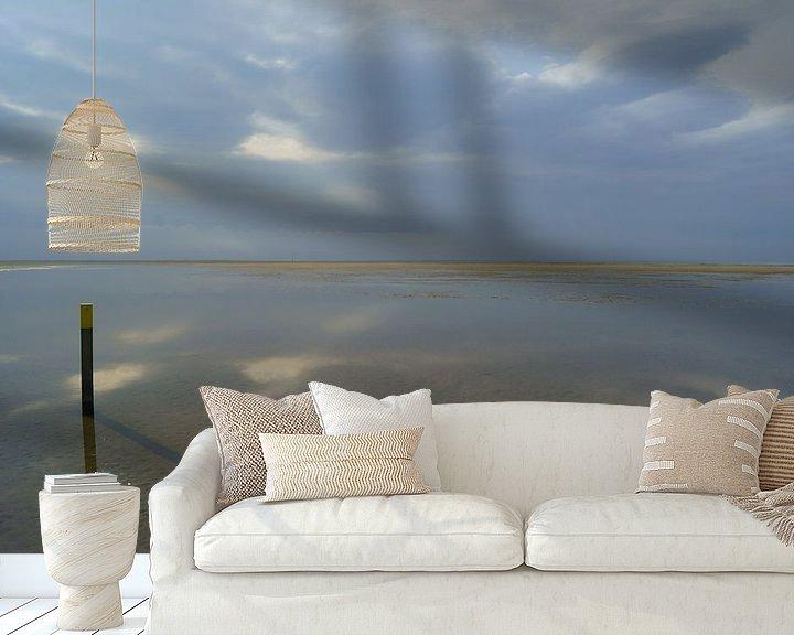 Sfeerimpressie behang: Strand bij Ouddorp van Michel van Kooten