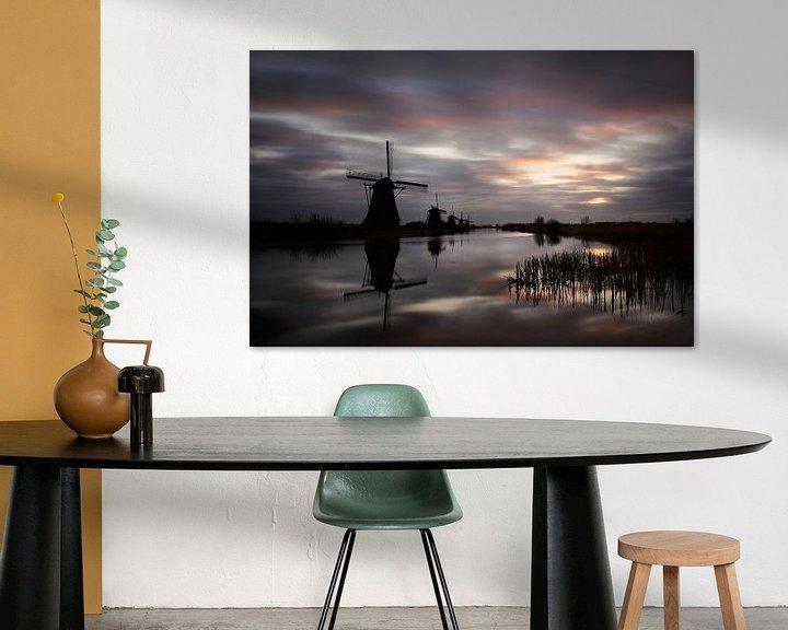 Sfeerimpressie: Een vroege ochtend in Kinderdijk van Mark Leeman