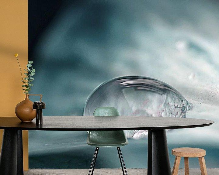Sfeerimpressie behang: Cool Drop Art van Jessica Berendsen
