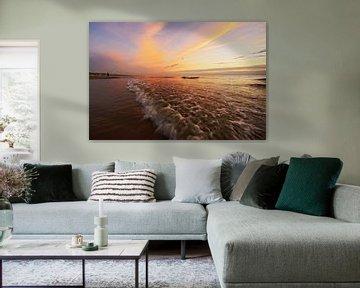 zonsondergang aan zee sur Dirk van Egmond