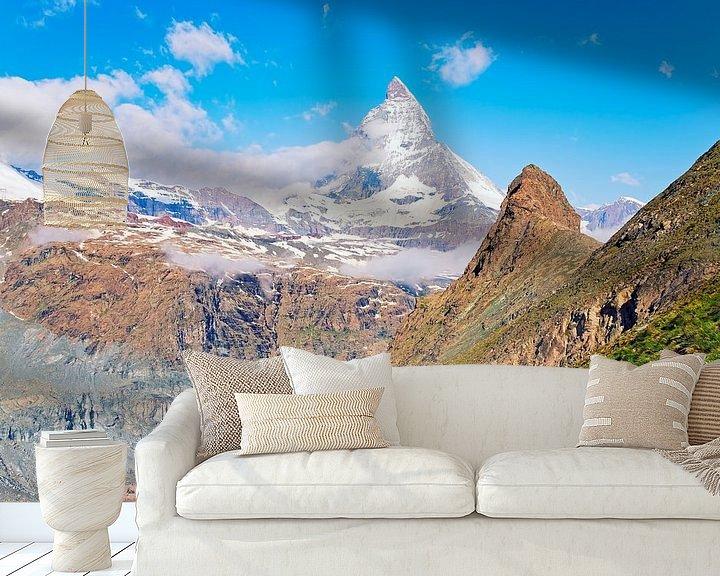 Sfeerimpressie behang: De Alpen van Anton de Zeeuw