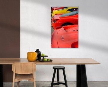 Ferrari sportwagens in een rij van Sjoerd van der Wal