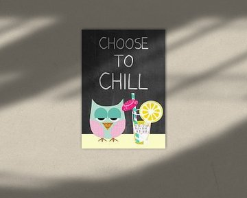 Choose to chill - cute owl van Green Nest