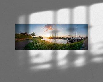 Panorama Woudrichem van Jan Koppelaar